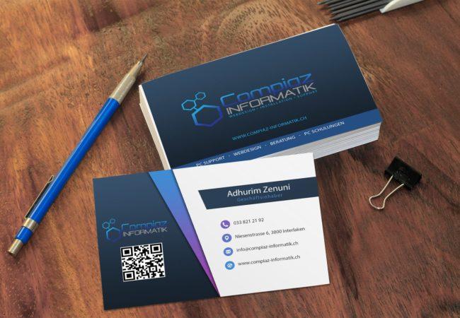 Compiaz Informatik Visitenkarten